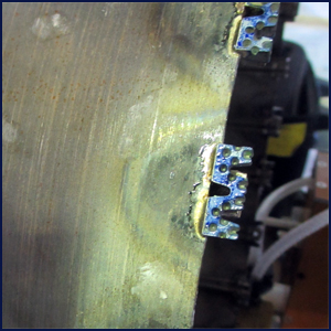 Silver Brazing of the segment is performed by high frequency RF induction heating.